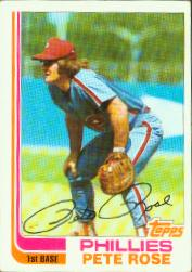 The 1982 Pete Rose Topps card I USED to carry in my wallet.